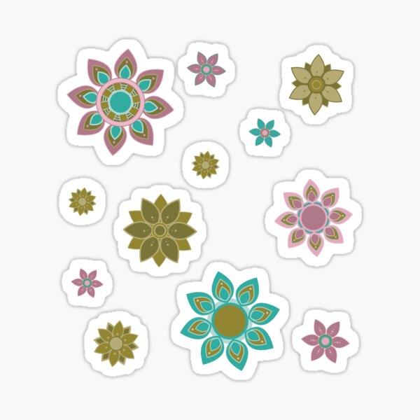 Cute Flowering Petal Mandalas Sticker