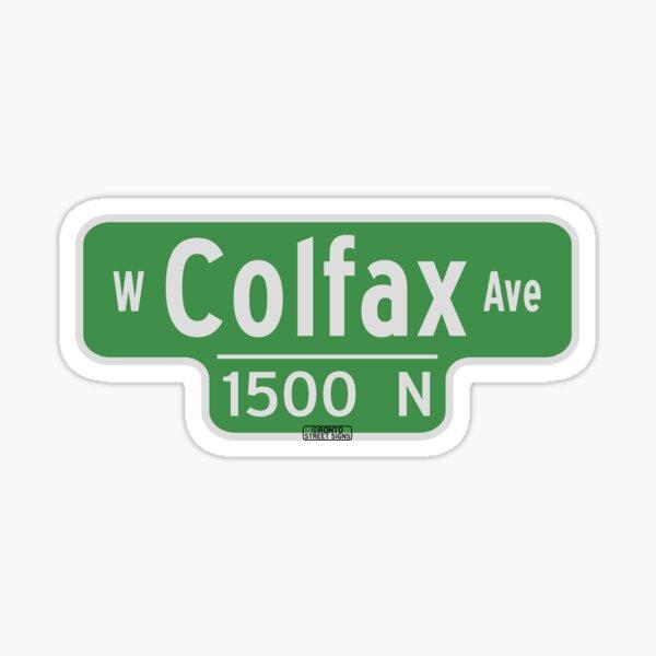 West Colfax Ave Street Sign - Denver Colorado Sticker