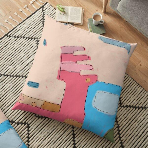 Hot Pink Blue Way Floor Pillow