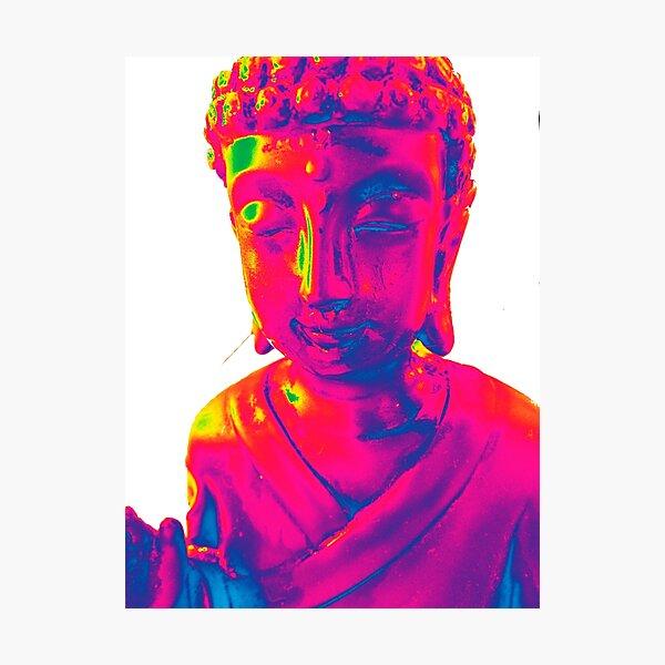 Budha goes rainbow Photographic Print