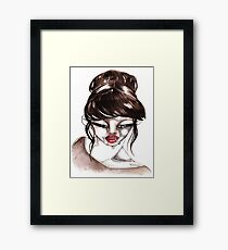 woman&cigarette 1 Framed Print