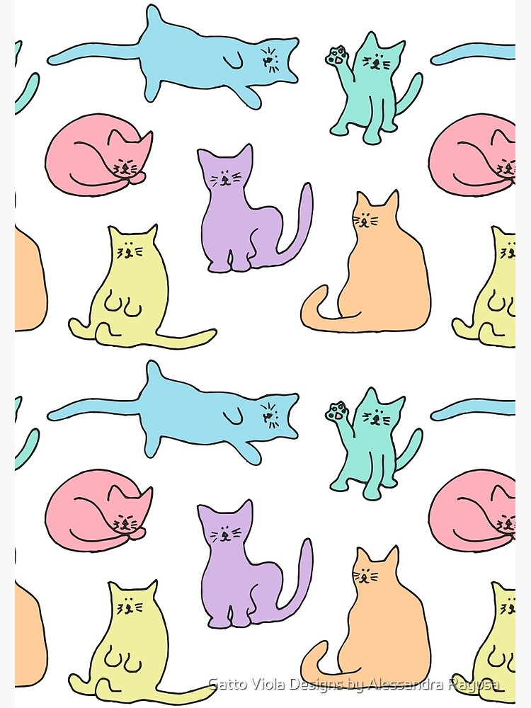 Pastel Cats by asragusa
