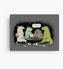 Monsters love RPGs Canvas Print