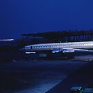 Tupolev Tu-114 Rossiya at night by John Schneider