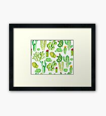 watercolor cactus Framed Print