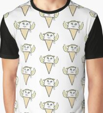 Fun Kawaii Cartoon Angel Ice Cream Cone Graphic T-Shirt