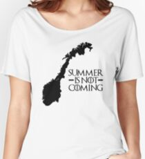 Summer is NOT coming - norway(black text) Women's Relaxed Fit T-Shirt