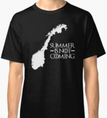 Summer is NOT coming - norway(white text) Classic T-Shirt