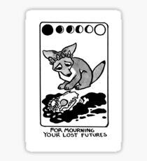 Sigil For Mourning Your Lost Futures Sticker