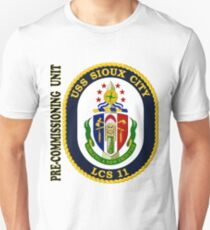 LCS-11 USS Sioux City Pre-Commissioning Unit T-Shirt
