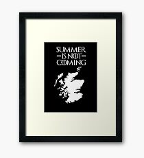 Summer is NOT coming - scotland(white text) Framed Print