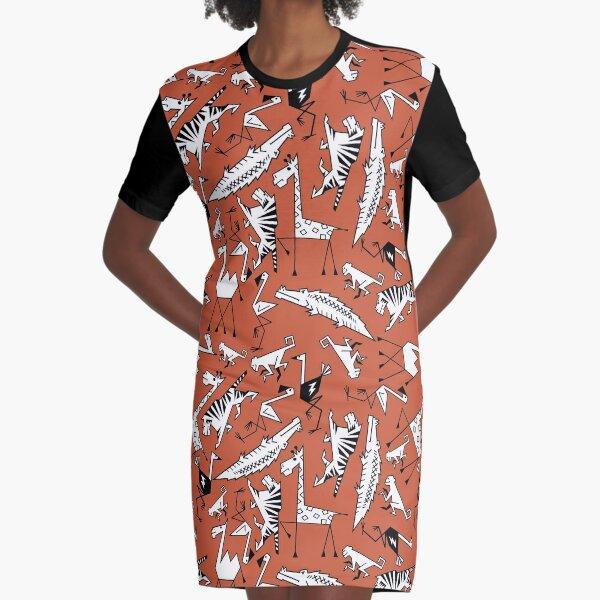 Safari Time Graphic T-Shirt Dress