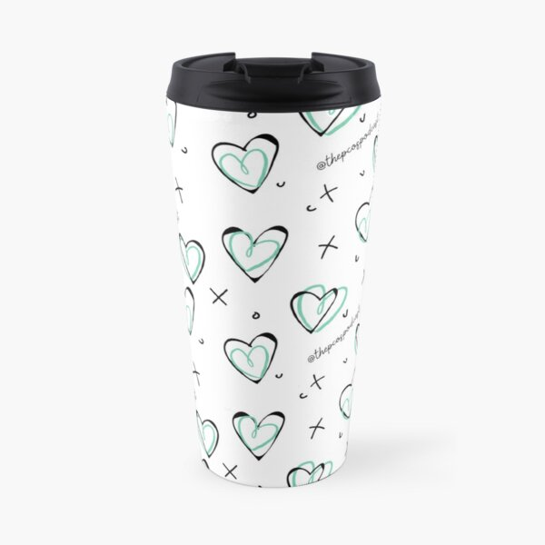 PCOS Podcast Love Heart Chic Teal Travel Mug