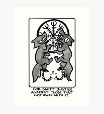 Sigil For Swift Justice Art Print