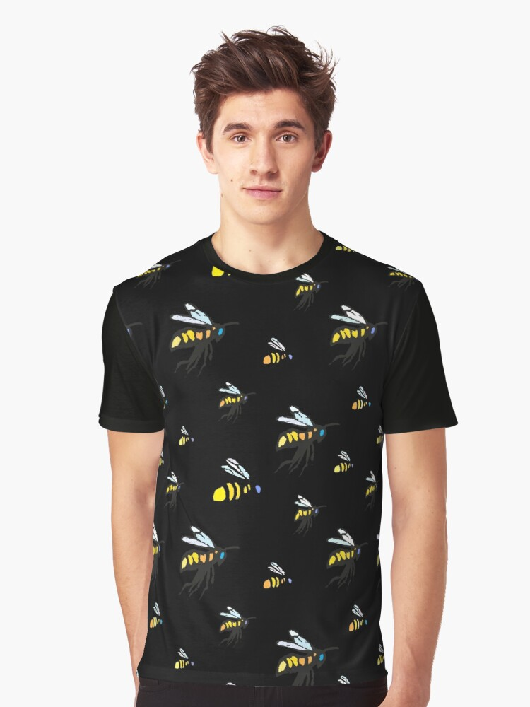 Bumble Bees Graphic T-Shirt Front