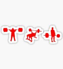 Kraftdreikampf Sticker