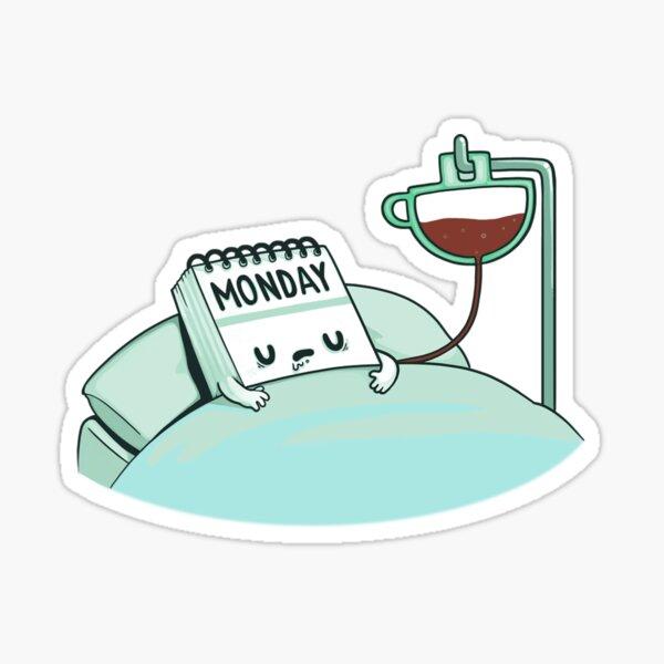 Monday Coffee Sticker