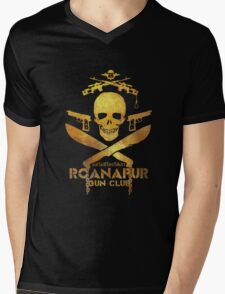Black Lagoon ROANAPUR GUN CLUB black Mens V-Neck T-Shirt