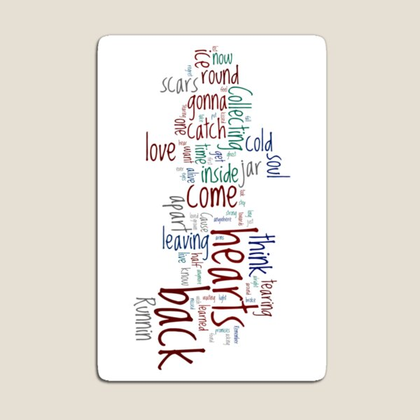 Jar of Hearts Wordle Magnet