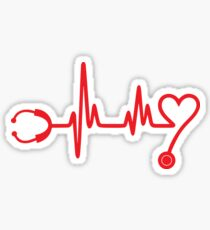 Hearbeat Stethoscope Sticker