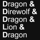 dragon&direwolf&dragon&lion&dragon by Herbert Shin
