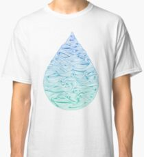 Water Drop – Blue Ombré Classic T-Shirt