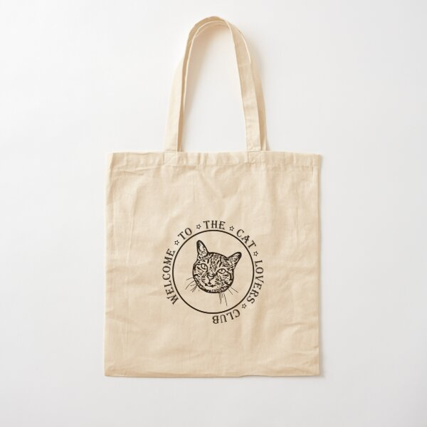 Welcome to the Cat Lovers Club Cotton Tote Bag