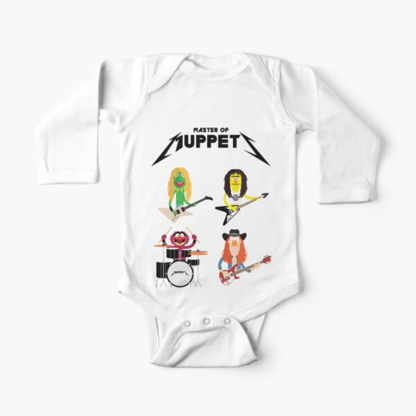 Master of Muppets - Muppets as Metallica Band Long Sleeve Baby One-Piece