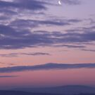 Quarter Moon Over Derry -Ireland by mikequigley