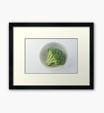 Raw broccoli Framed Print