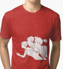 Running, Running, Running Outline Tri-blend T-Shirt