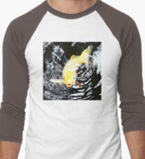 Yellow Koi - Black And White Art Men's Baseball ¾ T-Shirt