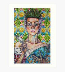 Asparagus Queen (Model: Emery Allen) Art Print