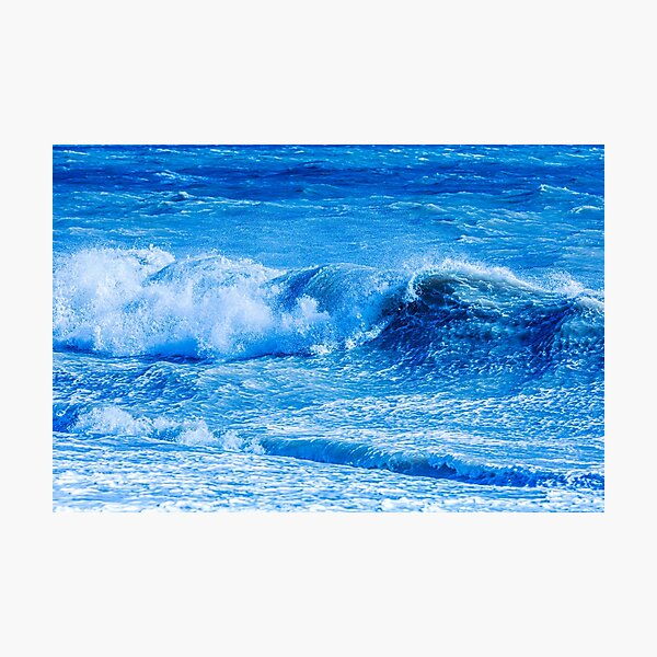 Blue Waves Photographic Print
