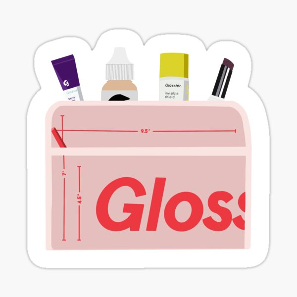 Glossier Beauty Bag with Makeup Sticker
