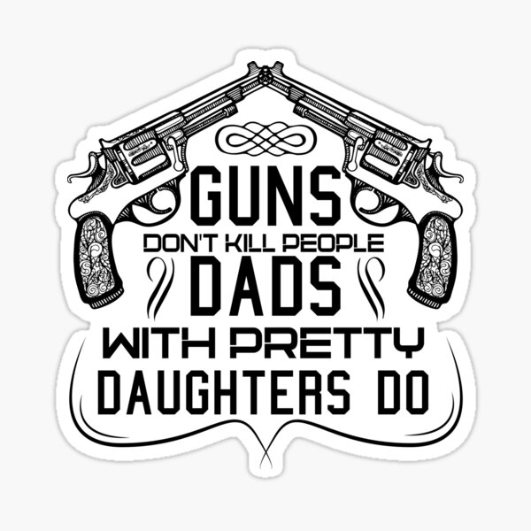 When in Doubt Empty the magazine Firearm Quote Expression STICKER