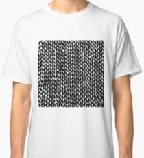 Hand Knitted Black Small Classic T-Shirt