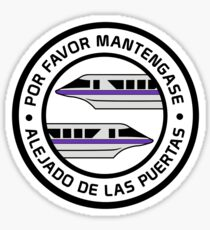 MonorailPorFavorPurple Sticker
