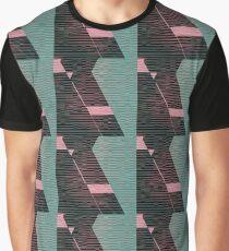 New Retro Wave Glitch Pattern Graphic T-Shirt