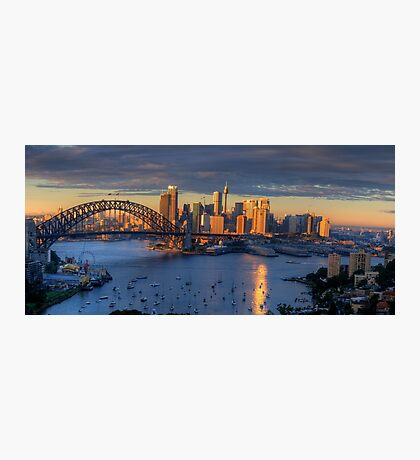 Kissed - Sydney Harbour, Sydney Australia (30 Exposure HDR Panorama)- The HDR Experience Photographic Print