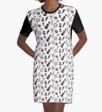 Sherlock Symbols Graphic T-Shirt Dress