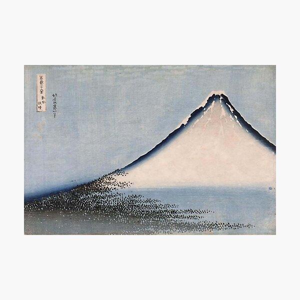 HOKUSAI, Katsushika Hokusai, Fuji, Blue. Photographic Print