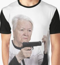 old lady with a gun!!!! Graphic T-Shirt