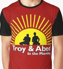 Troy and Abed in the Morning Graphic T-Shirt