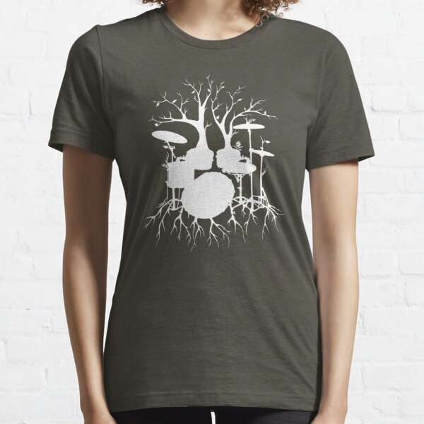 """Live the Beat to the Tempo of Creation"" ~ drum tree art , version1 Essential T-Shirt"