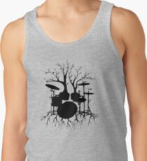 """Live the Beat to the Tempo of Creation"" ~ drum tree art, version2 Tank Top"
