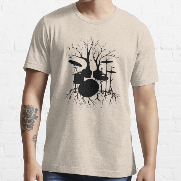 """""""Live the Beat to the Tempo of Creation"""" ~ drum tree art, version2 Essential T-Shirt"""