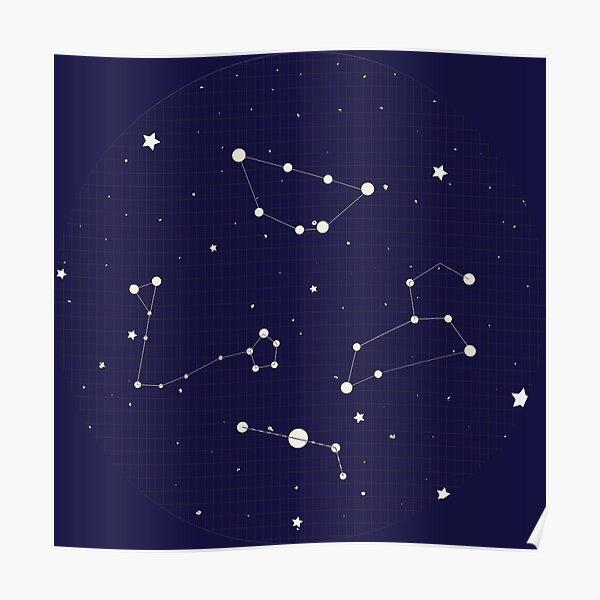 Constellation Night Sky Poster