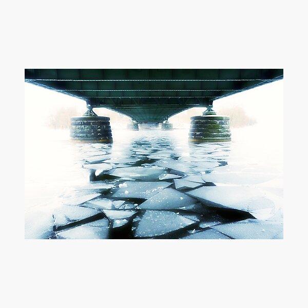 Die berühmte Brücke in Potsdam-Berlin Fotodruck
