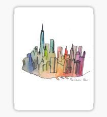 Rainbow Skyline Sticker